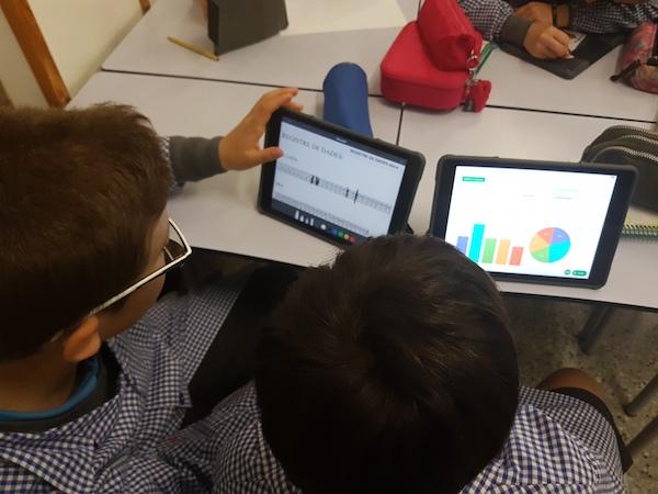 iPads a les aules de Primària de l'Escola Meritxell de Mataró