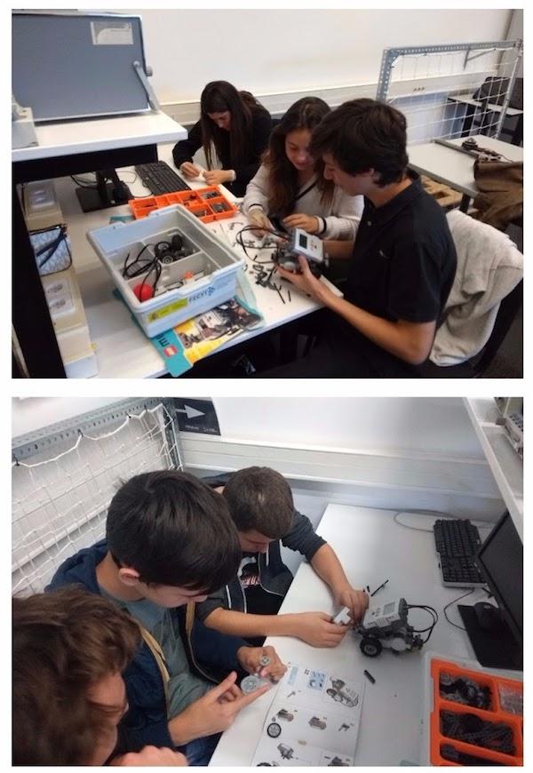 Electrònica a la classe d'ESO de l'Escola Meritxell de Mataró