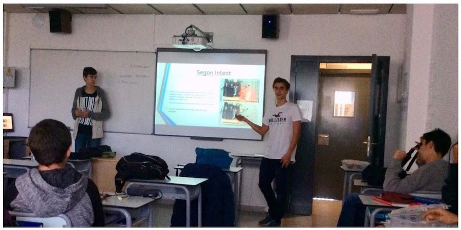 Classe d'ESO de l'Escola Meritxell de Mataró