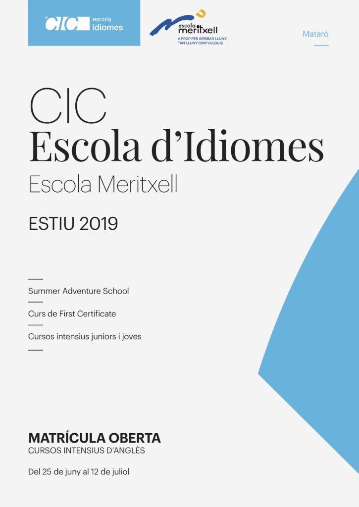 CIC Anglès Estiu 2019 Escola Meritxell