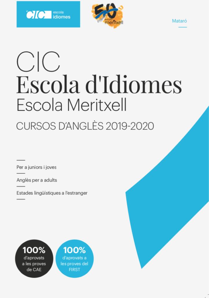 CIC Escola d'Idiomes Escola Meritxell de Mataró - Anglès