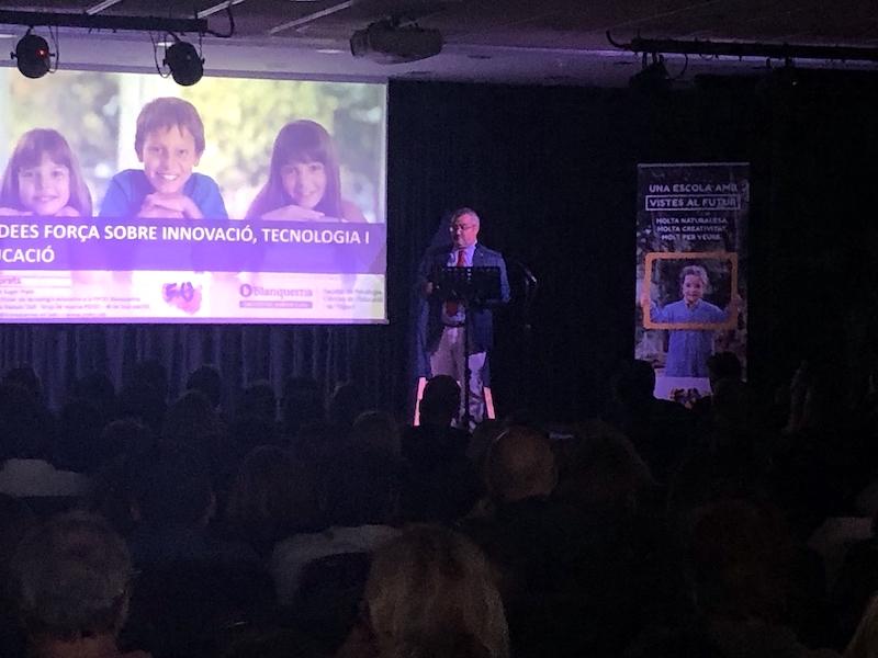 Miquel Prats a l'acte 50 aniversari Escola Meritxell