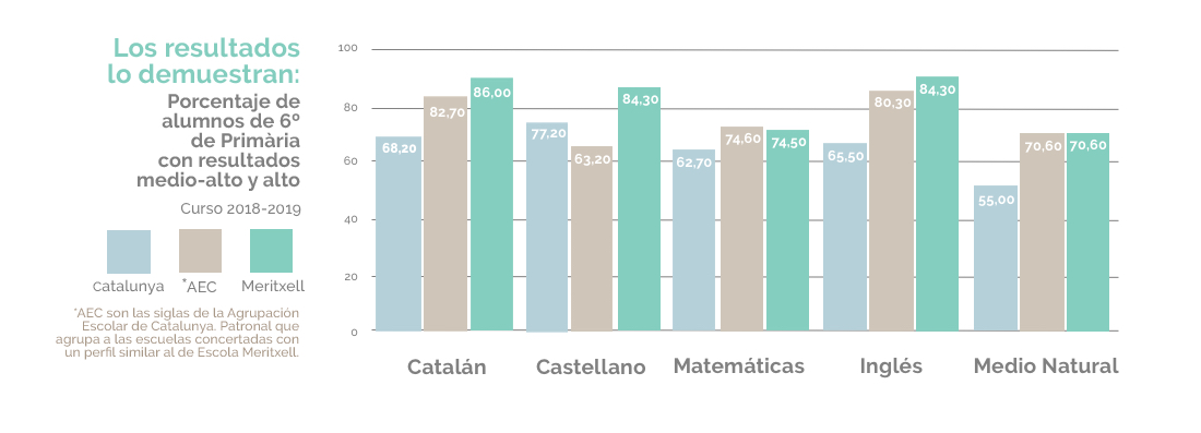 Resultados 6 primaria Escola Meritxell 2019