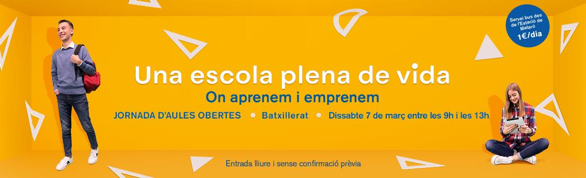 Jornades d'Aules Obertes 2020 Batxillerat - Escola Meritxell de Mataró