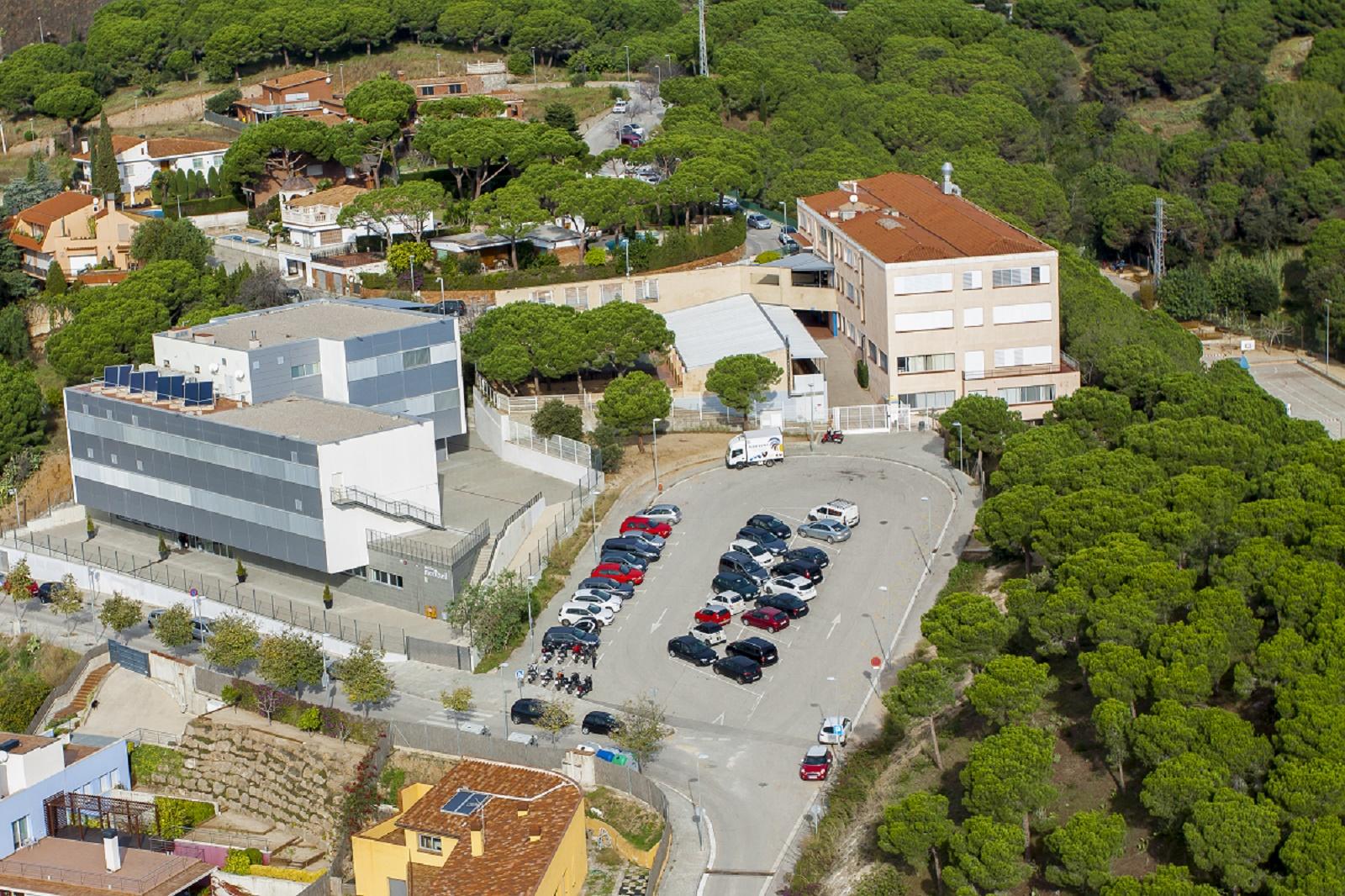 Vista de l'Escola Meritxell des de l'aire