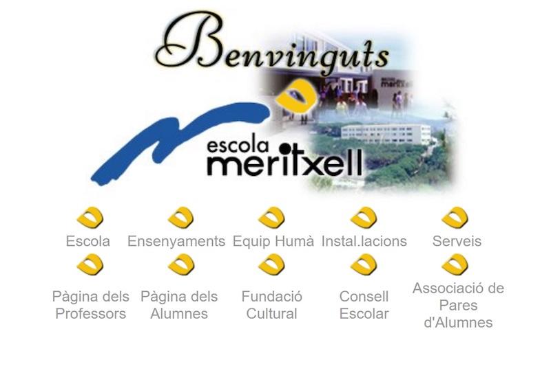 Antic web de l'Escola Meritxell